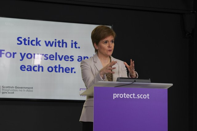 Nicola Sturgeon said Scotland was not in the same situation as Wales in terms of the Covid outbreak (Picture: Scottish Government/Flickr)