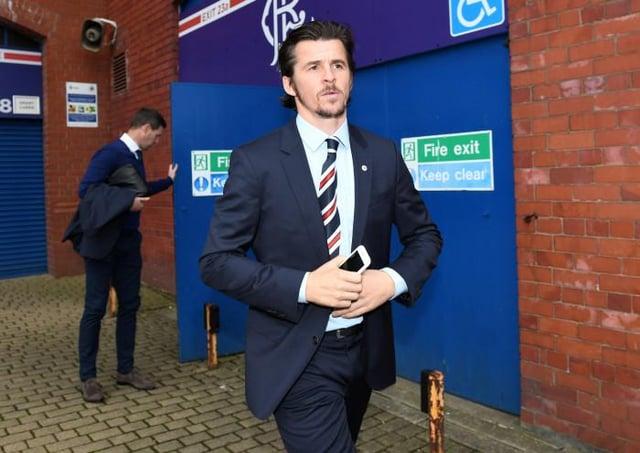 Joey Barton spent four months at Rangers under Mark Warburton in 2016. Picture: SNS
