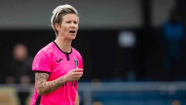 Glasgow City's star defender Janine Van Wyk is determined to end the season with silverware (Photo by Craig Foy / SNS Group)