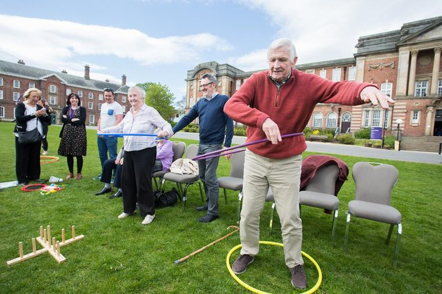 Sporting Memories groups also do some light physical exercise