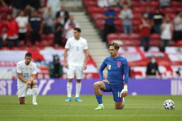 England players such as Jack Grealish have been booed by some supporters for taking a knee.