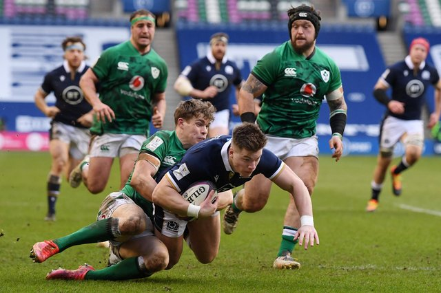 Action from Scotland's Six Nations match against Ireland in March. Picture: Stu Forster/Getty Images