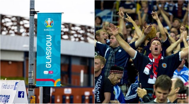 Glasgow City Council announced last month it would hold a fan zone event at Glasgow Green during Euro 2020
