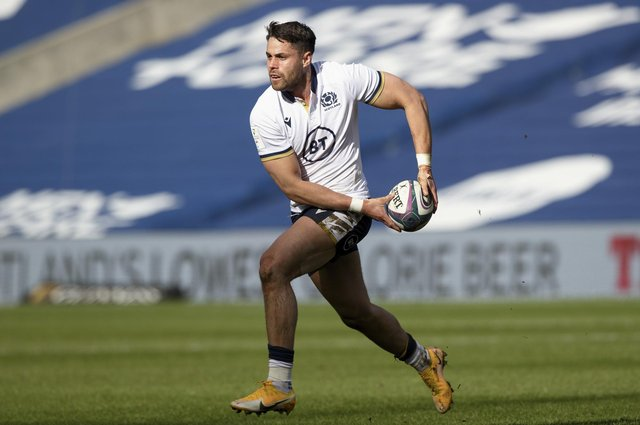 Sean Maitland has dropped out of the Scotland squad for the France match. Picture: Craig Williamson/SNS