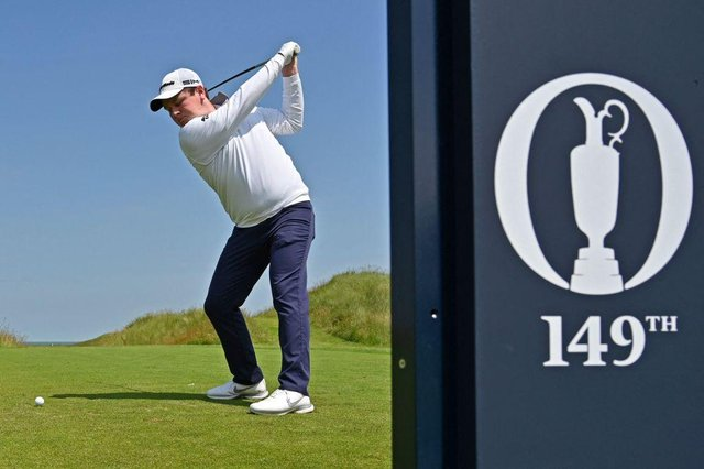Bob MacIntyre during a practice round for the 149th Open at Royal St George's. Picture: Glyn Kirk/AFP via Getty Images.