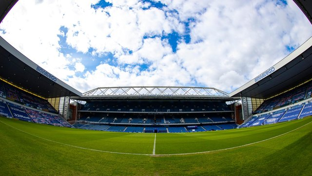 A general view of Rangers' Ibrox stadium