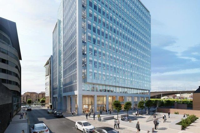 Part of the proposed office building at Carrick Square in Glasgow which will offer 14 floors.