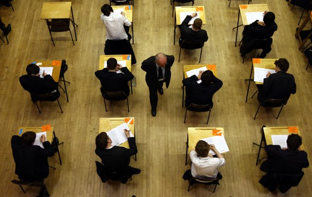 Despite the cancellation of Highers, school pupils are sitting what are effectively exams (Picture: David Jones/PA)