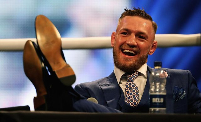 """Conor McGregor has revealed a """"conversation"""" about buying a stake in Celtic. Picture: Getty"""