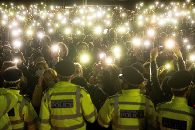 Sarah Everard: Police handling of London vigil and Bristol demo breached 'fundamental rights'