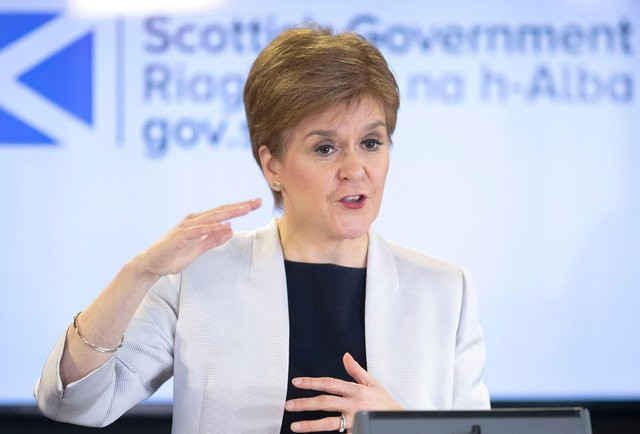 Scotland's First Minister Nicola Sturgeon. (Photo by JANE BARLOW/POOL/AFP via Getty Images)