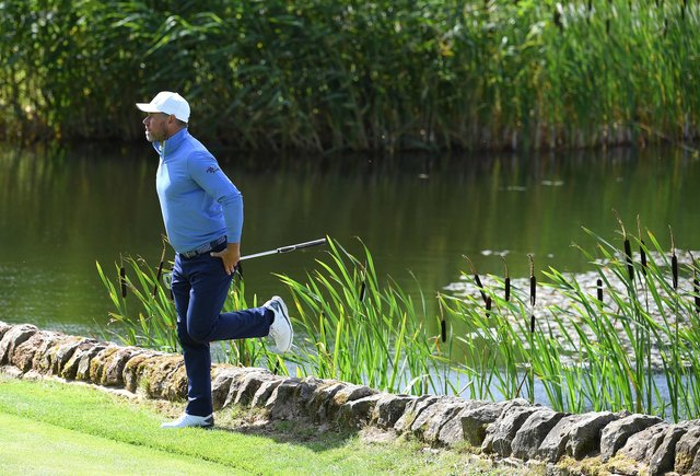 Lee Westwood pictured during today's final round of the Betfred British Masters at Close House, near Newcastle. Picture: Ross Kinnaird/Getty Images