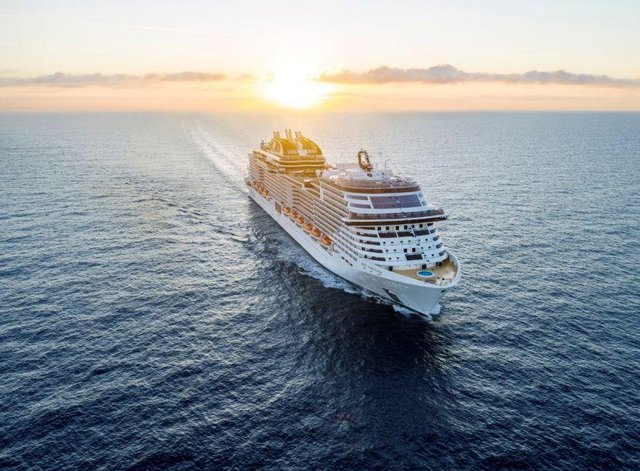 MSC Virtuosa is carrying some 970 passengers. Picture: MSC Cruises