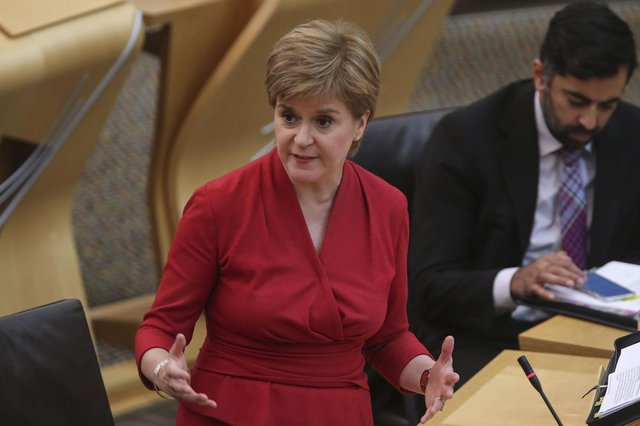 Nicola Sturgeon said it was 'utterly reckless of the Conservatives to plough ahead with Brexit in the middle of a global pandemic' (Picture: Fraser Bremner/pool/Getty Images)
