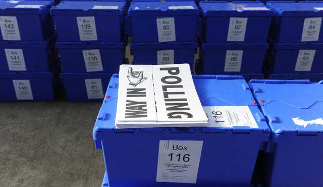 Ballot boxes being distributed to polling stations in and around Edinburgh. Picture: Neil Hanna