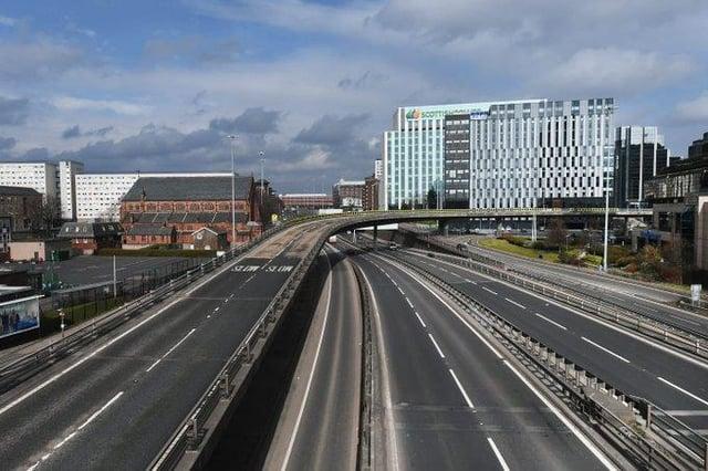 The empty M8 in Glasgow. Picture: John Devlin