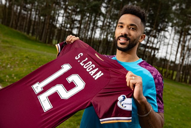 Shay Logan has told Hearts fans he will give nothing less than 100 per cent. Picture: SNS