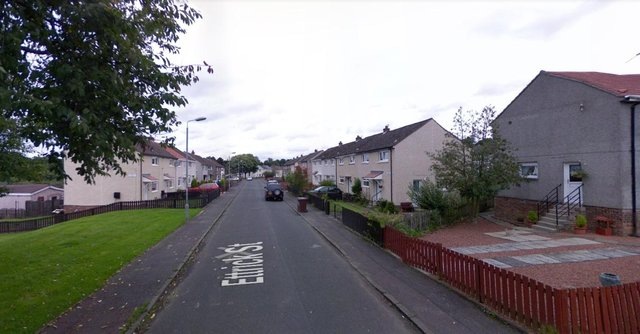 Two men entered a property on Ettrick Street in Wishaw on Thursday and seriously assaulted a 34-year-old man before setting fire to a vehicle outside of the property (Photo: Google Maps).