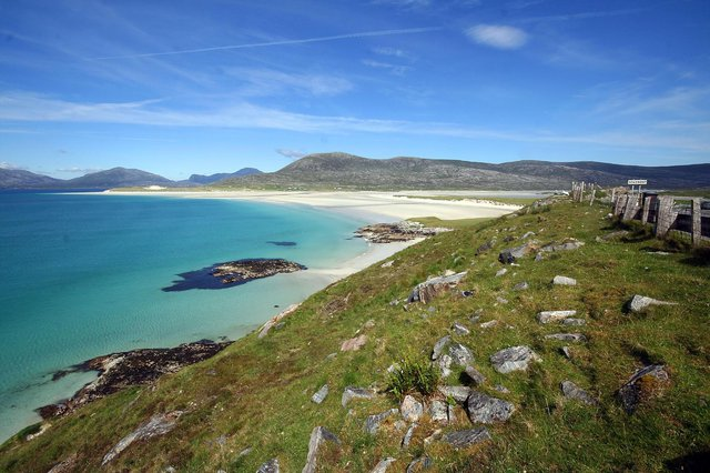 Luskentyre Beach from Seilebost on the Isle of Harris. People have been urged not to light disposable barbecues or open fires at the beauty sport after after areas of protected machair were left burnt by visitors. PIC: Bob Shand/Flickr/CC.