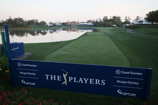 A general view of the 18th hole at The Stadium Course at TPC Sawgrass in Ponte Vedra Beach, Florida. Picture: Matt Sullivan/Getty Images.