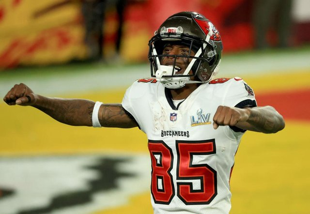 Jaydon Mickens was part of Tom Brady's Tampa Bay Buccaneers side which won Super Bowl LV (Getty Images)