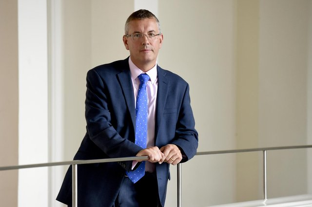 Fraser Sime of Bank of Scotland said it was unsurprising to see Scottish firms' confidence dip as the pandemic evolves. Picture: Lisa Ferguson.