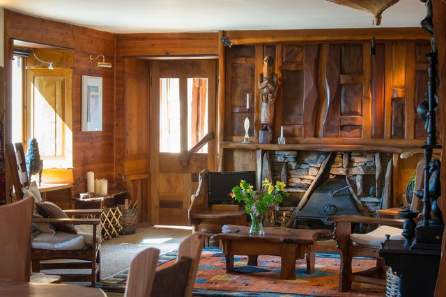 Tim Stead's unusual home in the Scottish Borders stands as a tribute to the acclaimed woodworker's unique talent
