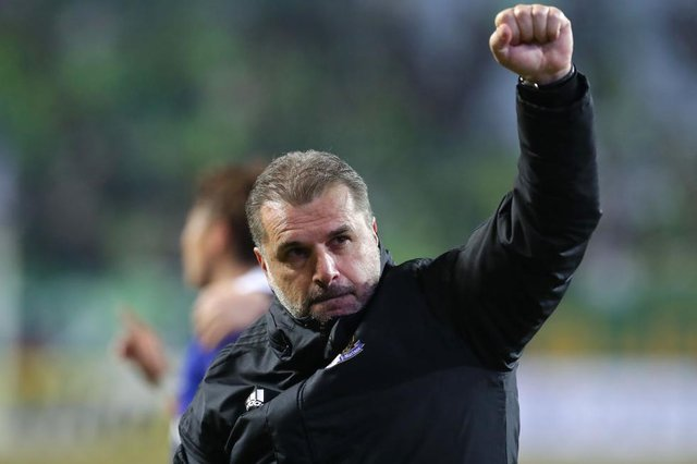 Yokohama F. Marinos head coach Ange Postecoglou is likely to become the next manager of Celtic. Picture: Getty