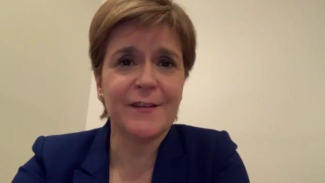 Nicola Sturgeon making her statement over SNP transphobia row.