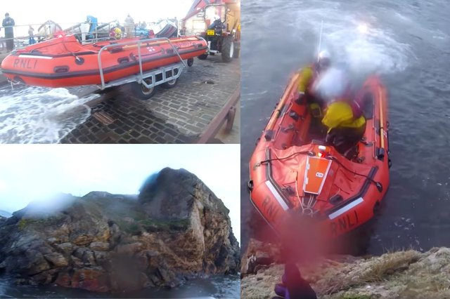 Boy rescued after becoming trapped by tide in Fife picture: RNLI