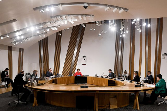 First Minister Nicola Sturgeon giving evidence to the Committee on the Scottish Government Handling of Harassment Complaints, at Holyrood in Edinburgh, examining the handling of harassment allegations against former first minister Alex Salmond. Picture: PA
