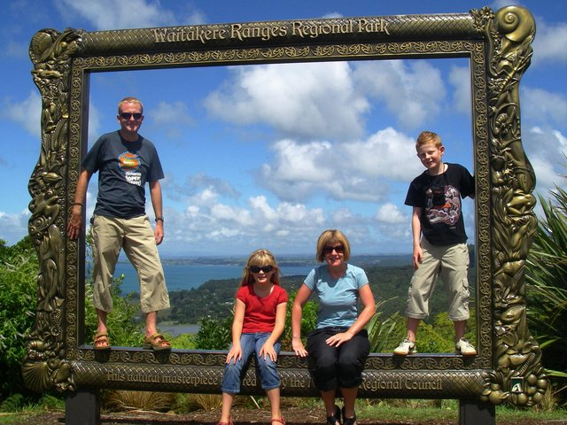 Ian, Anne, Rory and Roonagh in New Zealand in 2008.