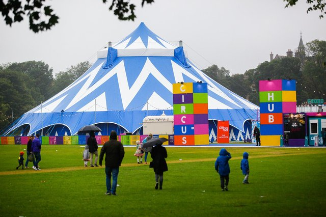 The Circus Hub was first brought to the Meadows by Underbelly in 2015. Picture: Scott Louden