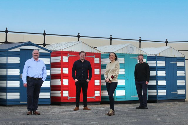 Left to right: Neil Francis, Jack Francis, Samantha Bedford and Paul Reid of Pogo Studio. Picture: Stewart Attwood