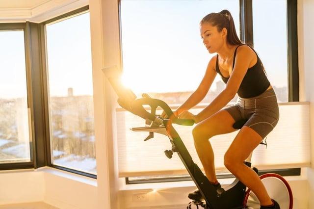 Demand for exercise bikes has risen.