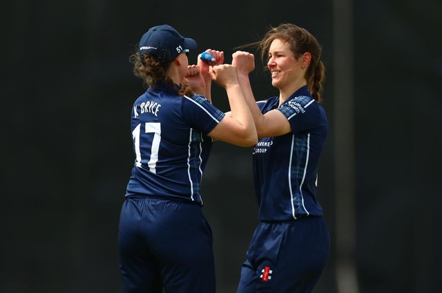 Scotland's Katie McGill and Kathryn Bryce.