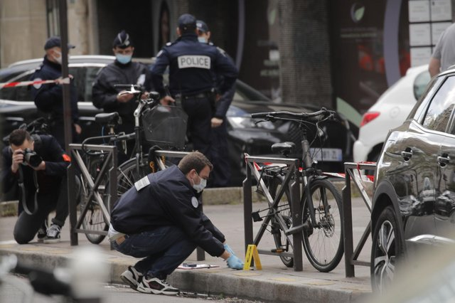 Two people were shot outside the Henri Dunant hospital in Paris on Monday.