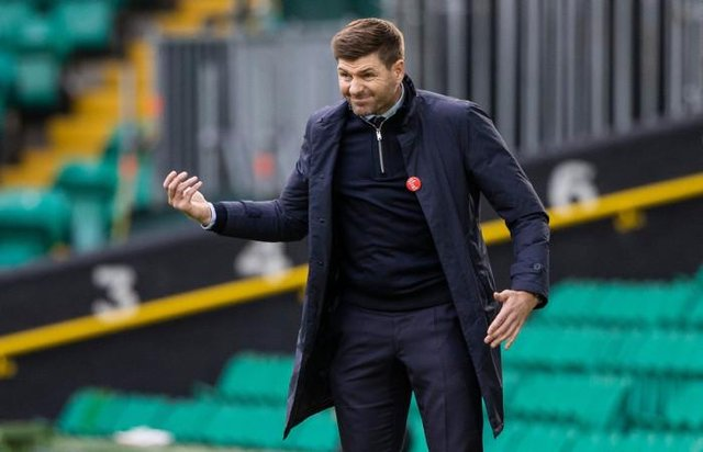Rangers manager Steven Gerrard during Scottish Premiership match between Celtic and Rangers at Celtic Park, on October 17, 2020. (Photo by Craig Williamson / SNS Group)