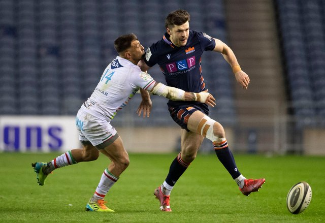 Blair Kinghorn in action against Zebre in the Rainbow Cup. Edinburgh face Glasgow Warriors next in an 1872 Cup decider. Picture: Paul Devlin/SNS