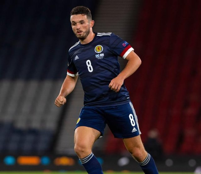 Scotland's John McGinn in action during the UEFA Nations League match between Scotland and Israel at Hampden  (Photo by Alan Harvey / SNS Group)