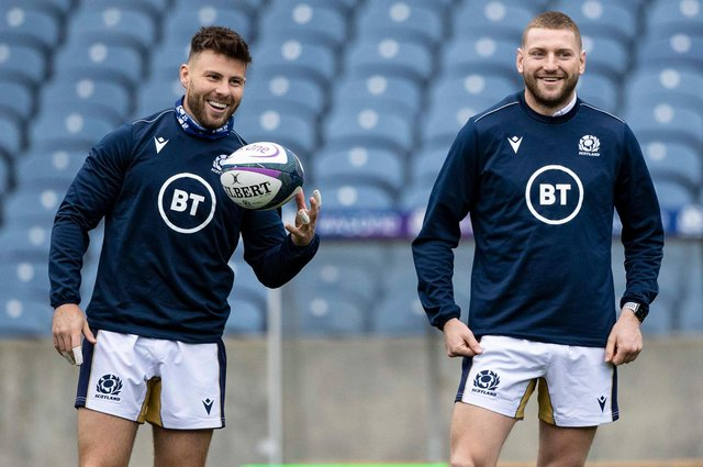 Ali Price and Finn Russell will hope to rekindle their Scotland partnership on the Lions tour. Picture: Craig Williamson/SNS