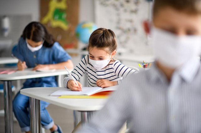 Secondary school pupils in Scotland will have to wear face coverings in corridors, communal areas and on school buses from Monday 31 August (Photo: Shutterstock)