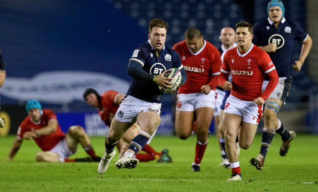 Stuart Hogg was in fine form in Scotland's narrow defeat by Wales. Picture: Craig Williamson/SNS