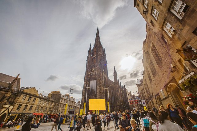 The Royal Mile is normally thronged with visitors during Edinburgh's main summer festivals season. Picture: Mihaela Bodlovic