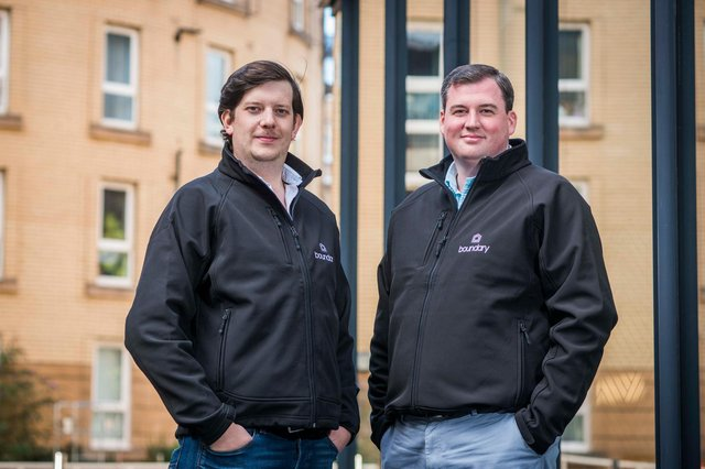 Boundary was founded by Robin Knox (right) and Paul Walton, the duo behind intelligent payment system IPOS, which was acquired by Swedish firm iZettle in 2016, itself later acquired by online payment giant Paypal. Picture: Chris Watt