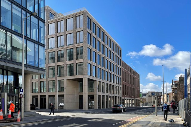 The milestone is being hailed as 'another step forward in the transformation of the site and the Fountainbridge area'. Picture: contributed.