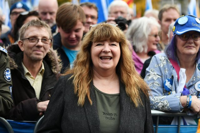 Nicola Sturgeon appeared to turn into her social media alter-ego Janey Godley, above, as she turned on the couthy innocence at the Salmond inquiry hearing, according to John McLellan (Picture: John Devlin)