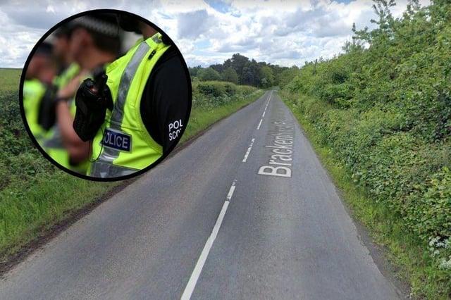 The collision happened onBrackenhirst Road, Glenmavis, at around 9.30am on Sunday, April 25.