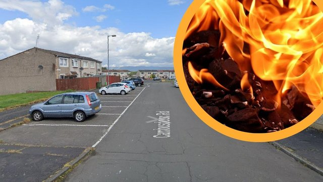 On Tuesday, June, 22, around 1am, policereceived a report of a fire having been set at the front door to a property on Cumbusdoon Road, Glasgow.