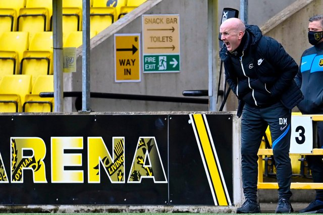 Livingston manager David Martindale during his side's top-six clinching win over Hamilton Accies. He doesn't want his side to rest on their laurels (Photo by Rob Casey / SNS Group)